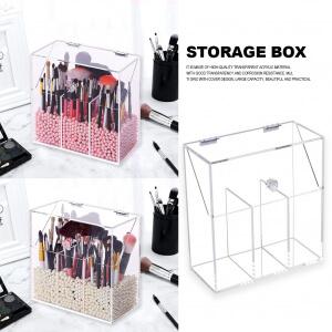 Multi style PS Acrylic Makeup Organizer Cosmetic Holder Makeup Tools Storage Pearls Box Brush Accessory Organizer